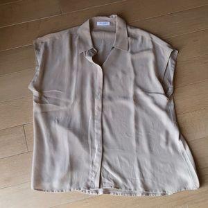 Equipment Short-Sleeve Silk Blouse
